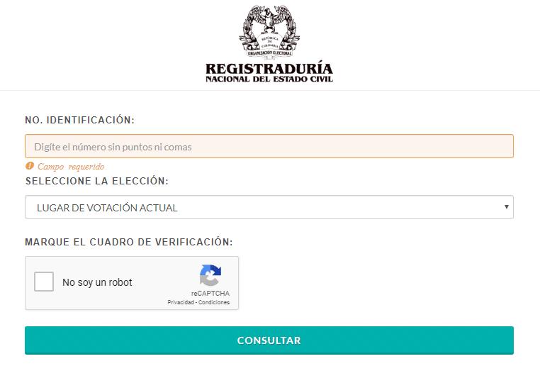 Consultar puesto de votación para elecciones en Colombia